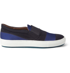 Acne Hans Striped Slip-On Shoes