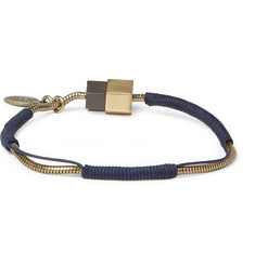 Lanvin Metal and Cord Bracelet