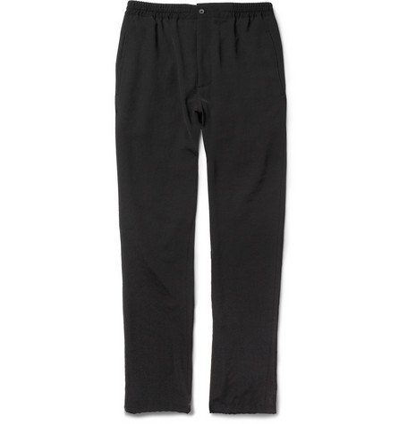 Lanvin Black Tapered-Leg Trousers