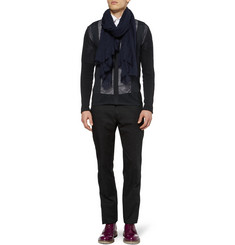 Lanvin Mesh-Panelled Cotton-Blend Cardigan