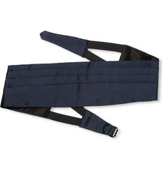 Valentino Pleated Silk Cummerbund