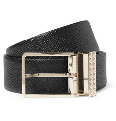 Valentino Cross-Grain Leather Belt