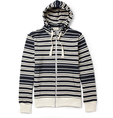 Maison Kitsuné Striped Cotton Hoodie