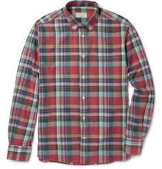 Maison Kitsuné Slim-Fit Check Cotton Button-Down Collar Shirt