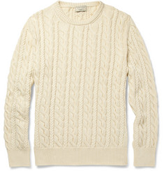Maison Kitsuné Cable-Knit Cotton Sweater