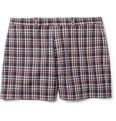 Maison Kitsuné - Red Check Cotton Suit Shorts