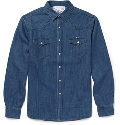 Maison Kitsuné Slim-Fit Denim Shirt