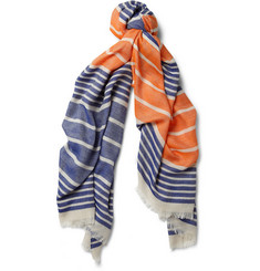 Maison Kitsuné Striped Lightweight Scarf