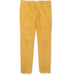 Gucci Slim-Fit Cotton-Piqué Trousers