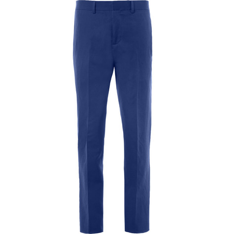 Gucci Slim-Fit Cotton and Linen-Blend Trousers