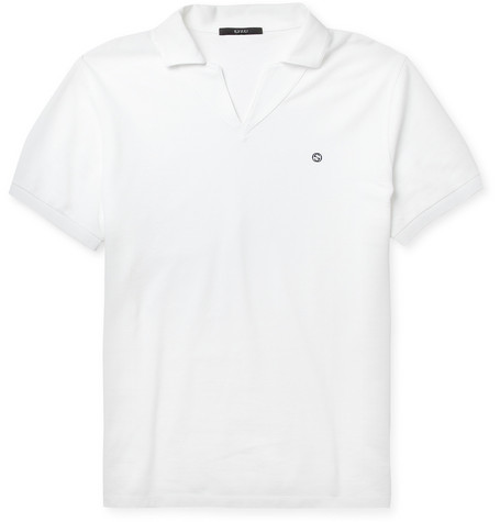Gucci Cotton-Pique Polo Shirt