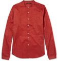 Gucci Grandad-Collar Lightweight Cotton Shirt