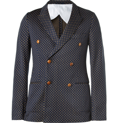 Gucci Unstructured Jacquard-Woven Cotton Blazer