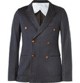 Gucci - Unstructured Jacquard-Woven Cotton Blazer