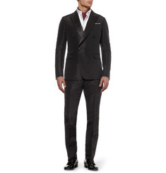 Gucci Black Slim-Fit Silk Tuxedo Jacket