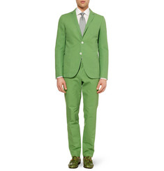 Gucci Green Cotton-Canvas Suit Trousers