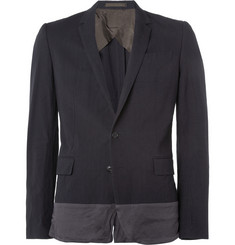 Kolor Navy Panelled Slim-Fit Cotton-Blend Suit Jacket
