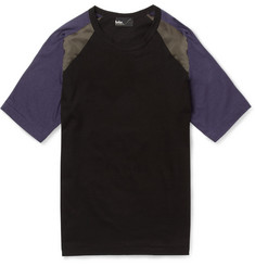 Kolor Panelled Cotton-Blend T-Shirt