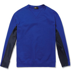Kolor Cotton-Jersey and Satin Sweatshirt