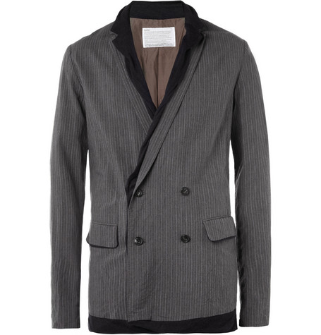 Kolor Double-Layered Cotton-Blend Blazer