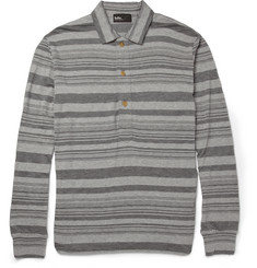 Kolor Striped Cotton-Jersey Polo Shirt