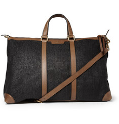 Gucci Leather and Raffia Holdall