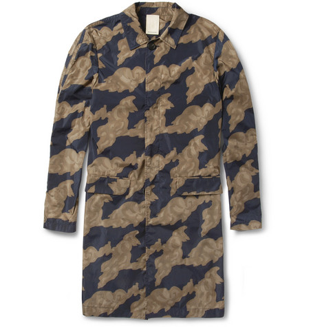 Wooyoungmi Cloud-Print Lightweight Rain Coat