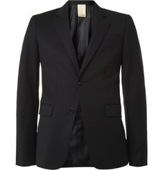 Wooyoungmi Black Slim-Fit Wool-Blend Suit Jacket