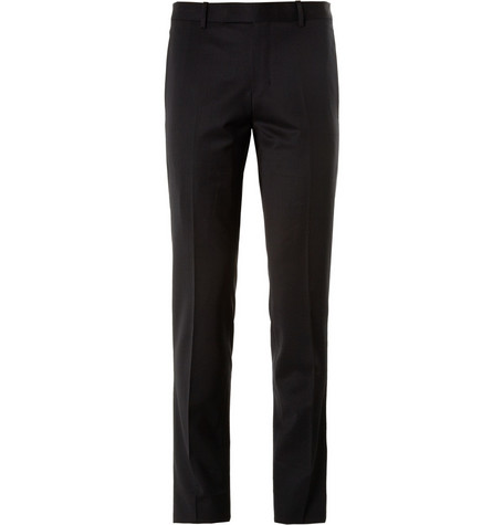 Wooyoungmi Black Wool-Blend Suit Trousers