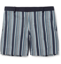 Wooyoungmi Navy Printed Cotton Suit Shorts