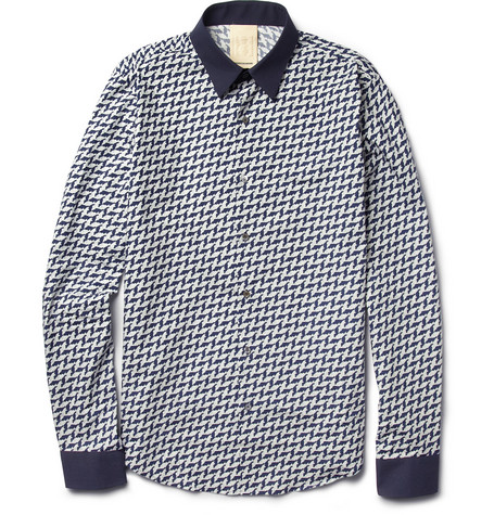 Wooyoungmi Slim-Fit Printed Cotton Shirt