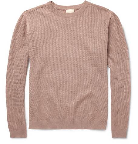 Wooyoungmi Textured Linen and Cotton-Blend Sweater