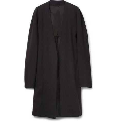Raf Simons Oversized Collarless Wool Coat