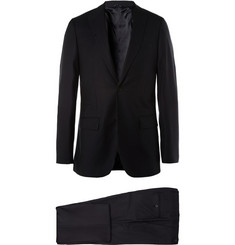 Raf Simons Navy Slim-Fit Pin-Dot Wool Suit