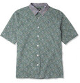 Raf Simons - Slim-Fit Short-Sleeved Flower-Print Cotton Shirt