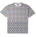 Raf Simons Flower and Fence-Print Cotton-Jersey T-Shirt