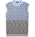 Raf Simons - Mesh and Flower-Patterned Sleeveless Cotton Sweater