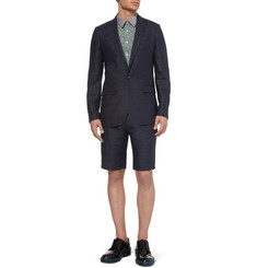 Raf Simons Navy Slim-Fit Wool-Blend Suit Jacket