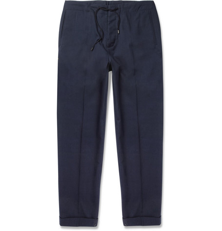Maison Martin Margiela Cotton-Blend Drawstring-Waist Trousers