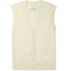 Maison Martin Margiela Sleeveless Cotton Cardigan