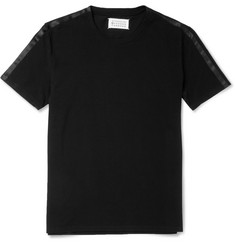 Maison Martin Margiela Satin-Trimmed Cotton-Piqué T-Shirt