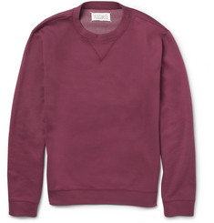 Maison Martin Margiela Elbow Patch Cotton-Blend Jersey Sweatshirt