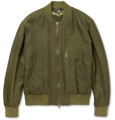 Maison Martin Margiela Silk-Canvas Bomber Jacket