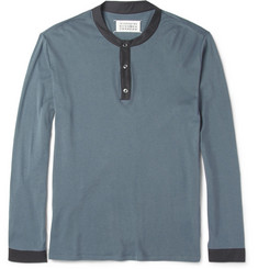 Maison Martin Margiela Cotton and Cashmere-Blend Henley T-Shirt