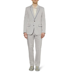 Maison Martin Margiela Grey Shadow-Effect Cotton-Blend Suit