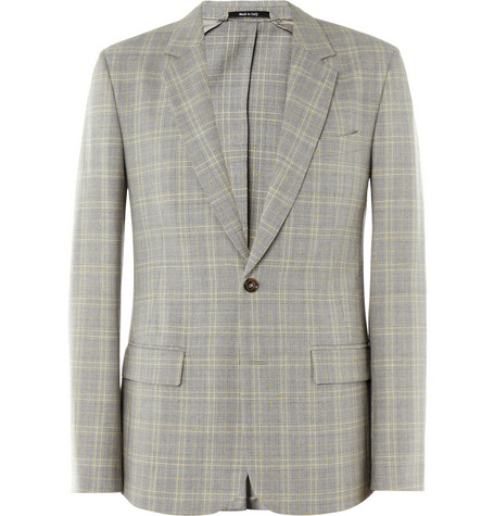 Maison Martin Margiela Slim-Fit Prince of Wales Check Wool-Blend Blazer