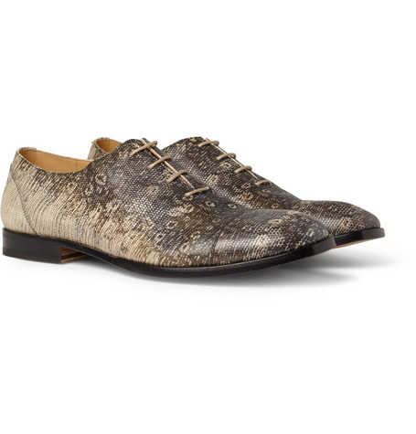 Maison Martin Margiela Lizard-Effect Leather Oxford Shoes