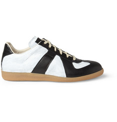Maison Martin Margiela Painted Leather Panelled Sneakers