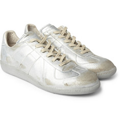 Maison Martin Margiela Metallic Panelled Fabric Sneakers