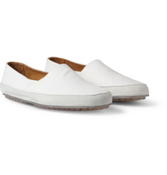 Maison Martin Margiela Canvas and Suede Slip-On Shoes